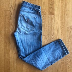 Guess Cropped Mid Rise Jeans